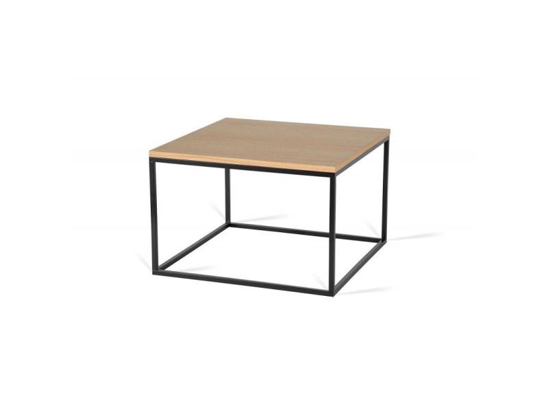 Table basse carrée industrielle 40 cm helisa i / coloris : chêne