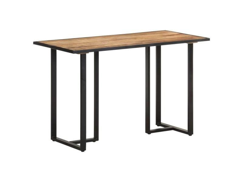 Vidaxl table de salle à manger 120 cm bois de manguier brut 320689