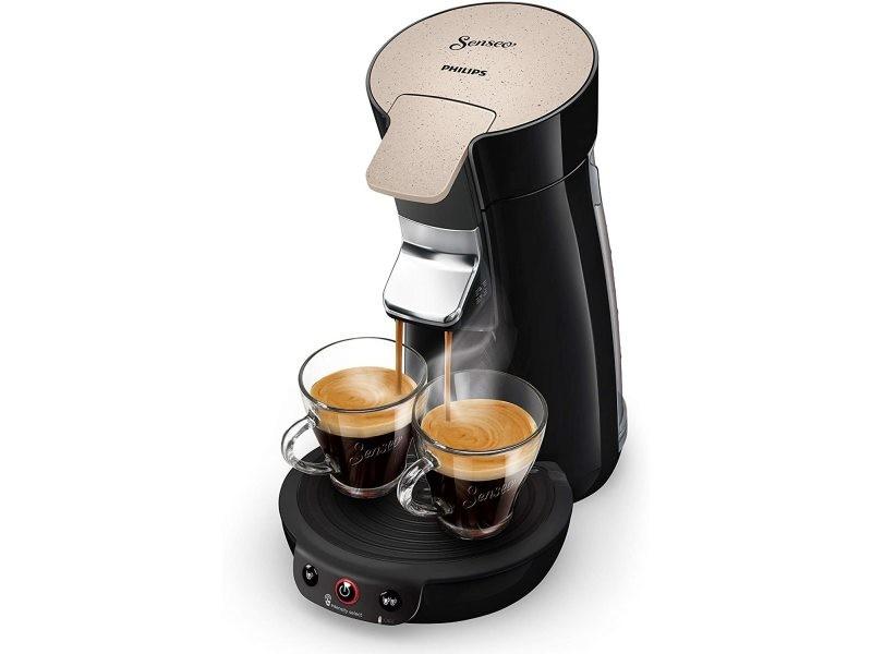 Machine à café à dosettes senseo de 0,9l 1450w nougat noir