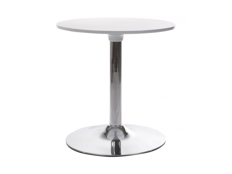 Table d'appoint ronde mars blanc