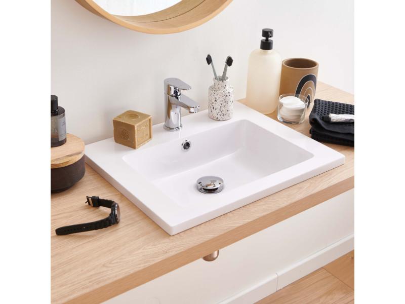 Remarquable Vasque salle de bain à encastrer en résine de synthèse l50 aria CR-48