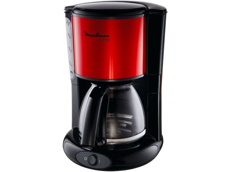 Cafetière électrique de 1,25l pour 10 a 15 tasses 1000w rouge noir