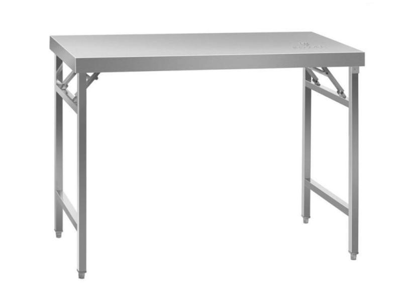 Table de travail cuisine professionnelle acier inox pliable 120 x 60 cm helloshop26 14_0003706