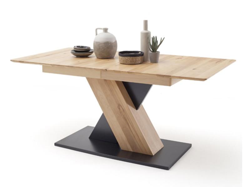 Table à manger extensible en hêtre massif huilé - l.140-185 x h.77 x p.90 cm -pegane- PEGANE