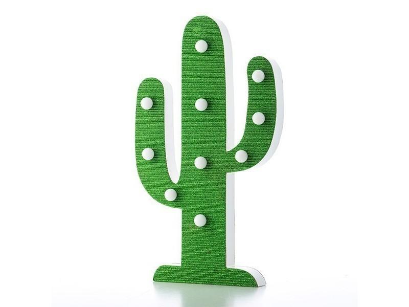 Avec En 10 Led Lampe Lumineuse Bois Cactus Poser Lumières À 5Aq4LR3j