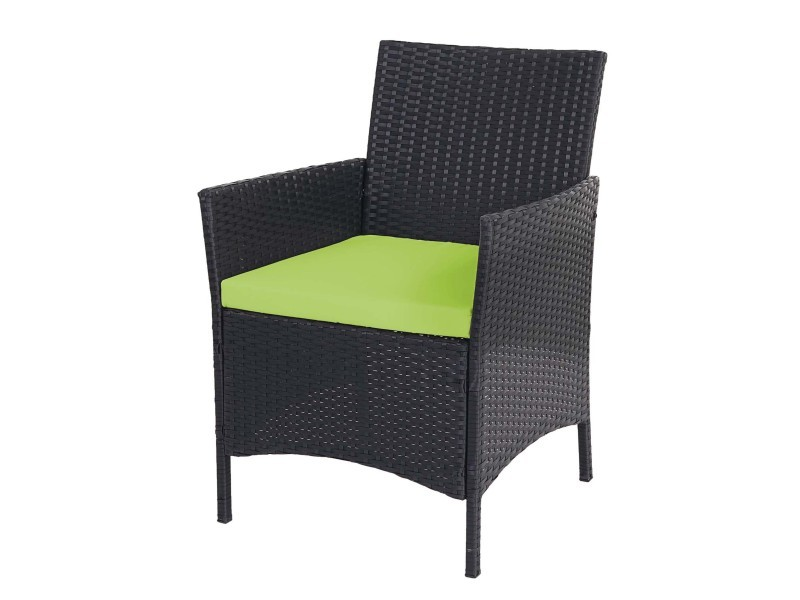2x fauteuil de jardin halden en polyrotin, fauteuil en osier ...