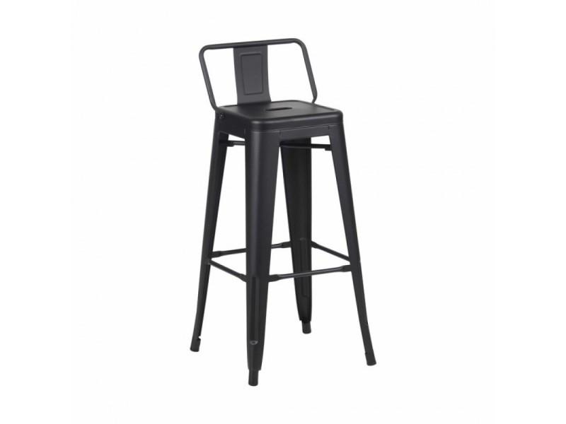 Fury chaise en m tal avec assise en pp blanc 44 5 48 5 for Chaise zons