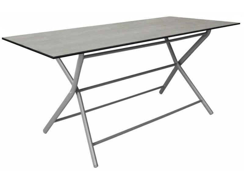 Table pliante en aluminium azuro 160 cm