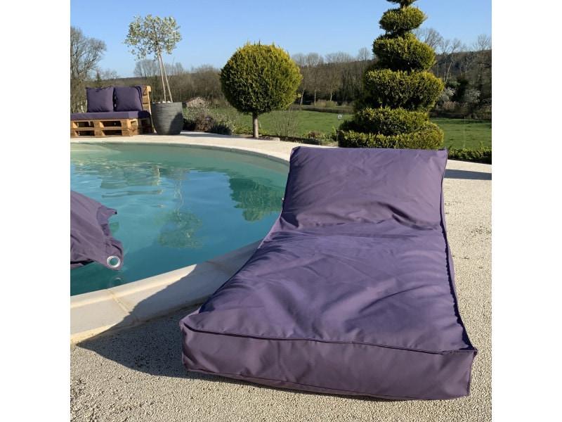 Matelas bain de soleil en microbille 160 x 65 cm