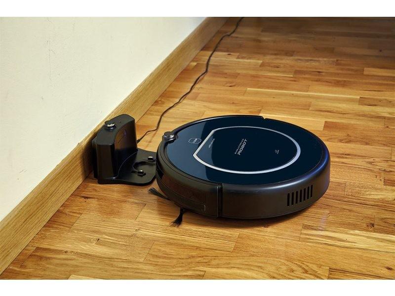 Aspirateur robot de 0,5l 25w noir