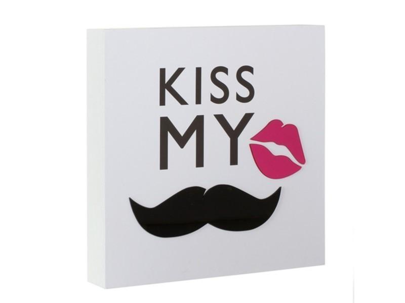 Cadre imprimé mystery cm kiss my moustache conforama