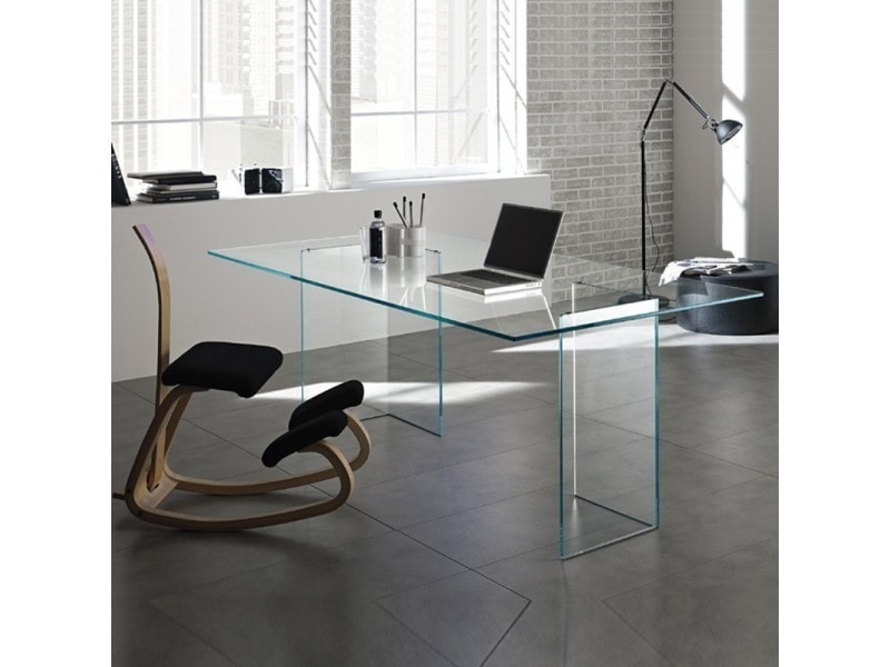 Bureau en verre design montana