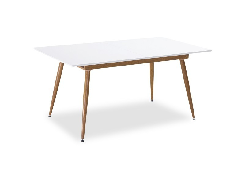 Table Extensible Style Scandinave Betty Blanc 6 A 8 Personnes