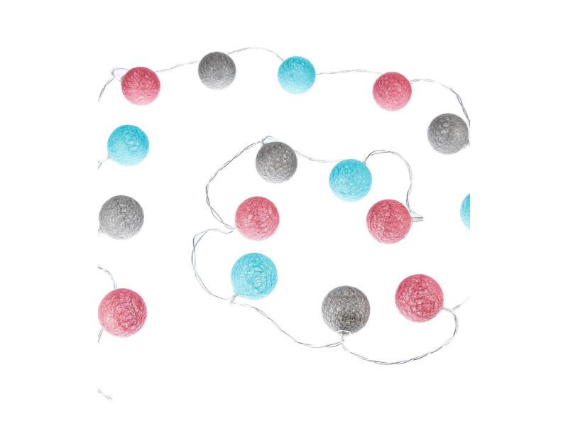 Atmosphera - guirlande led à piles 16 boules