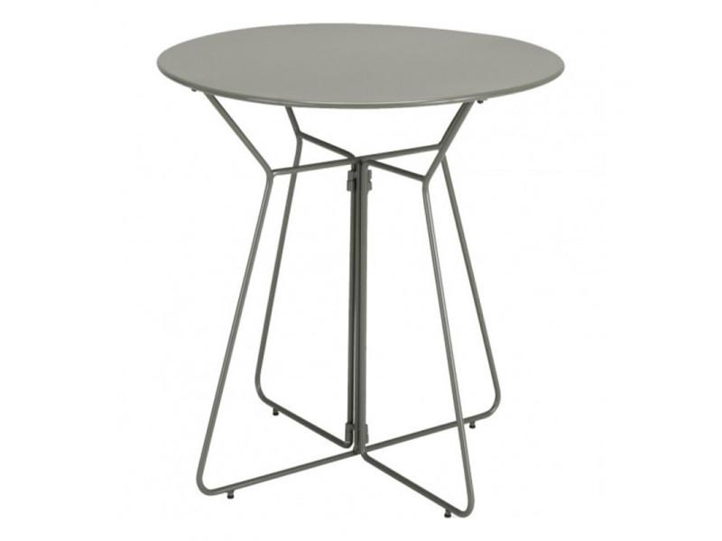 Table de jardin ronde en métal vert d66 cm - meta 6287