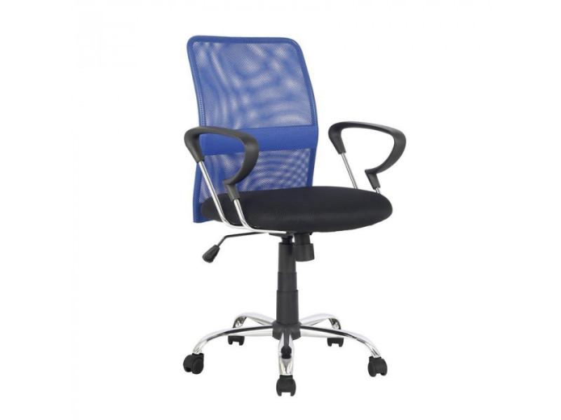 Chaise de bureau pivotante santi bleue noire vente de fauteuil de