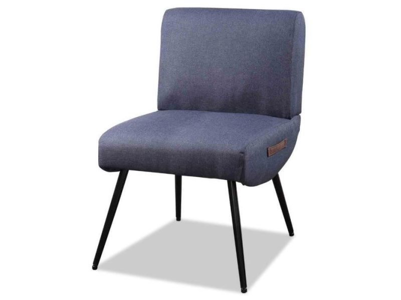Lilo3 fauteuil pieds métal - tissu gris anthracite - l 49 x p 58,5 x h 75 cm
