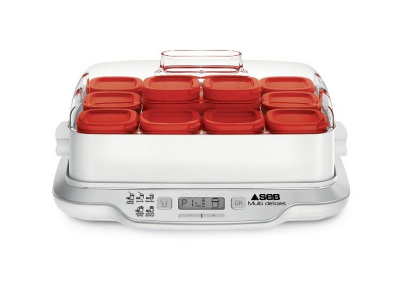 Yaourtiere multidelices 12 pots egoutoir faisselle prog frais et desser seb - yg6615 SEBYG661500