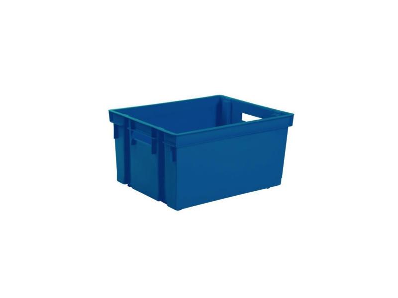 Eda bac de rangement manutention avec 2 poignées - 50 l - bleu