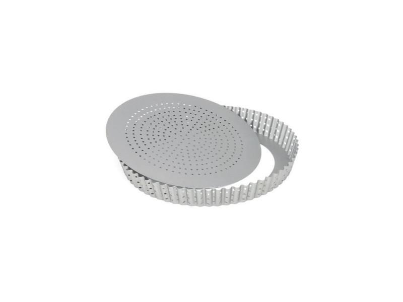 Moule a tarte perforé antiadhésif en acier revetu - 28 cm PAT8712187035738