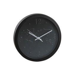 Horloge pendule murale monde noir
