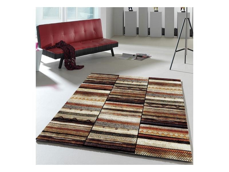 Tapis Salle A Manger Berber Morocco Band Multicolore 200 X 290 Cm