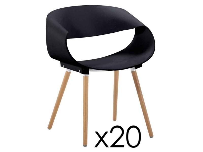 Paris prix - lot de 20 chaises design bois \