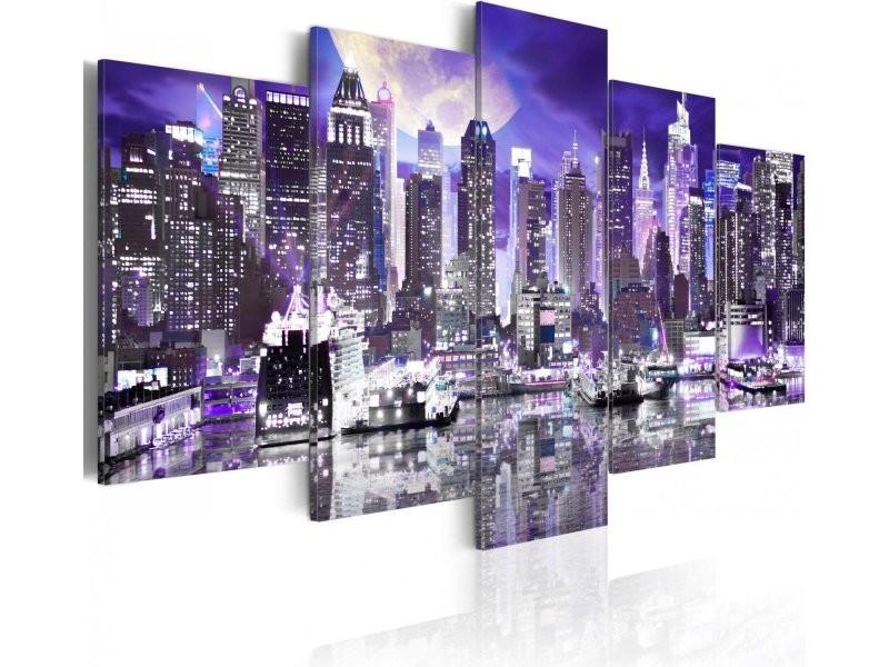 Tableau moonlit night in new york city A1-N3074PWD