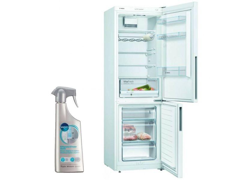 Réfrigérateur frigo combiné blanc 308l froid brassé lowfrost