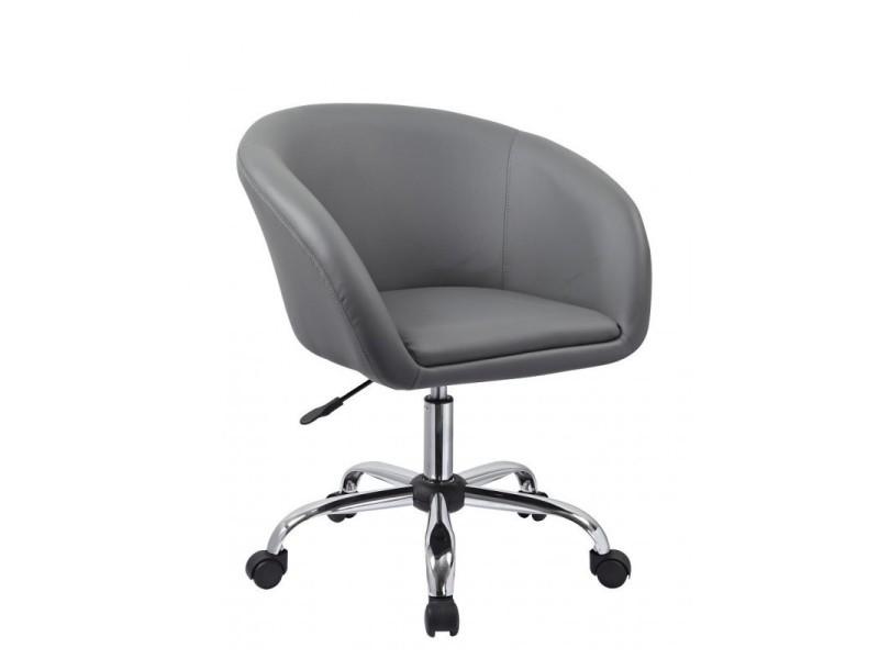 fauteuil roulette tabouret chaise de bureau gris bur09023 vente de fauteuil de bureau. Black Bedroom Furniture Sets. Home Design Ideas