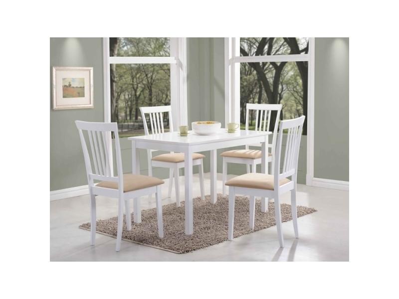 Table rectangulaire 6 personnes - fiord - 110 x 70 x 74 cm - blanc