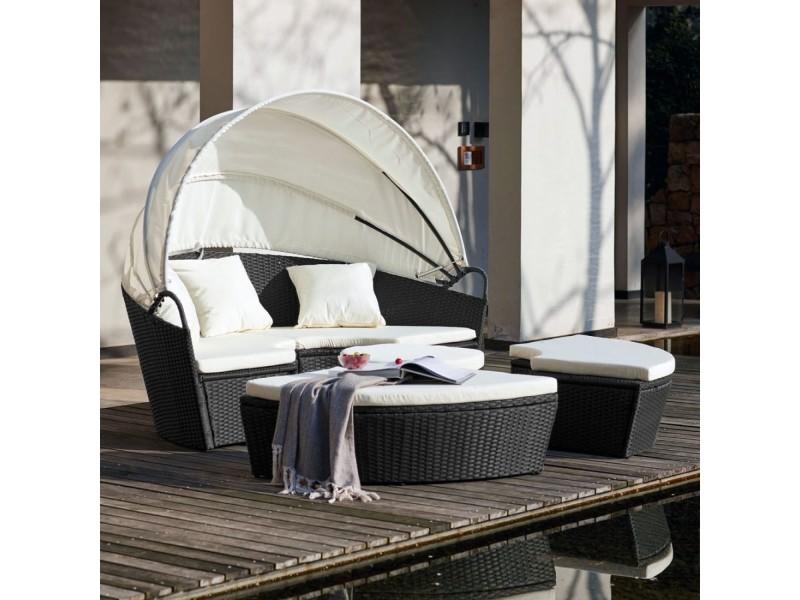 Le belladone: salon de jardin modulable 6/8 pers en résine tressée ...