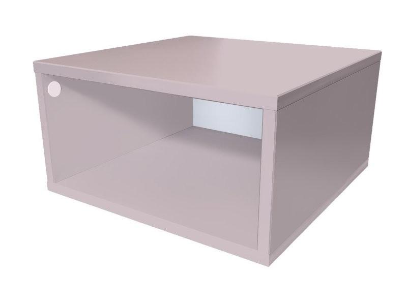 Cube de rangement bois 50x50 cm 50x50 violet pastel CUBE50-ViP