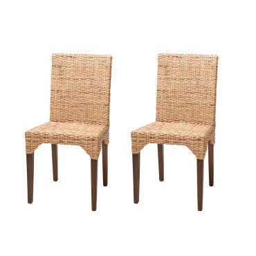soldes 54 lot de 2 chaises vitor en rotin kubu vente de chaise conforama. Black Bedroom Furniture Sets. Home Design Ideas