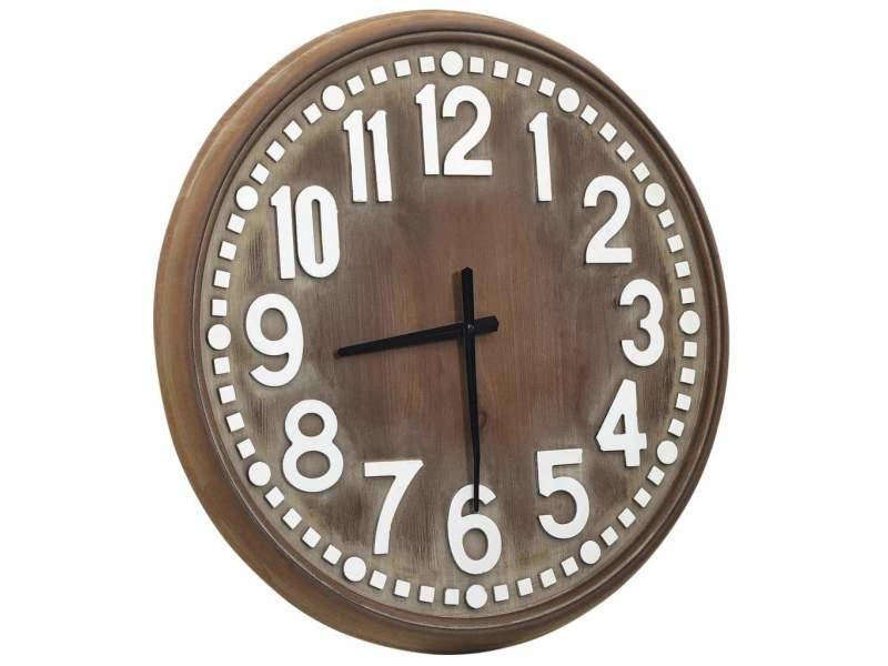 Horloge murale marron 60 cm mdf dec022237