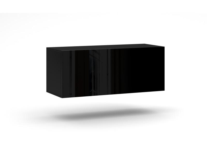 Rtv livol led. Rtv-cabinet avec led. 100 cm, noir