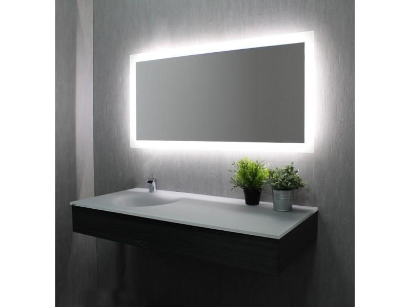 Miroir de salle de bains avec éclairage led - modèle led 120 ...