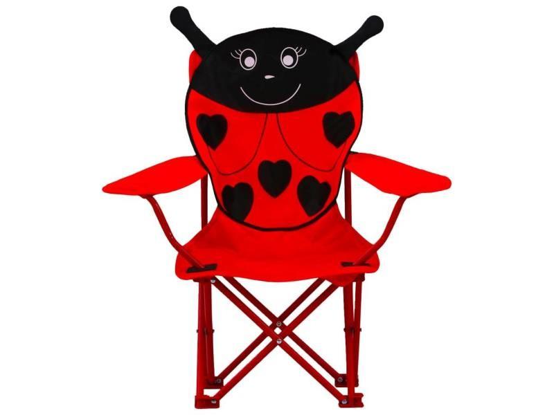 Vidaxl chaises de jardin pour enfants 2 pcs rouge tissu 48105