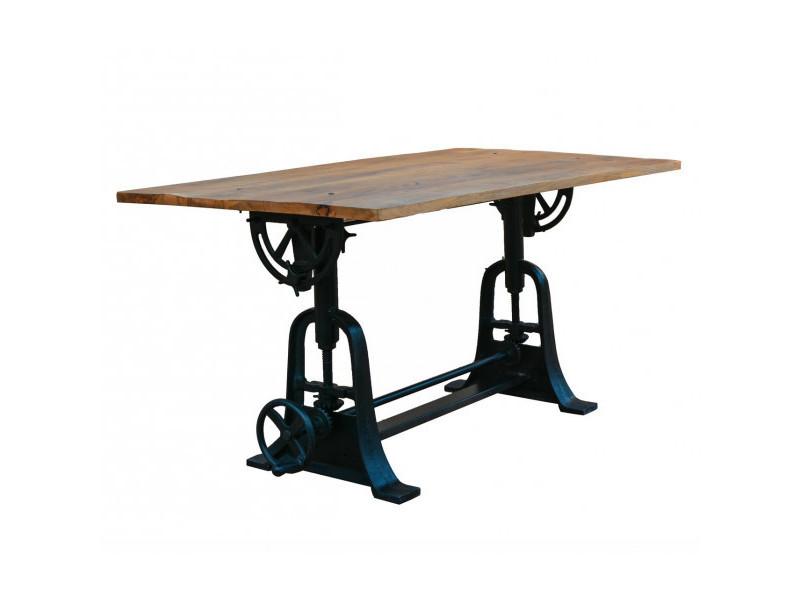 Draw - table en bois de style industriel l150