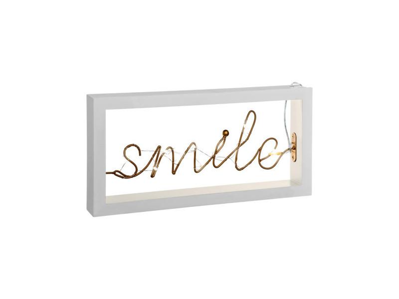 D/écoration Lumineuse LED Mot Smile 30 x 15 cm Cosyness Atmosphera