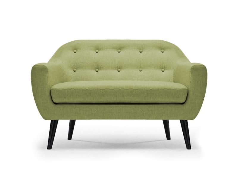 canap scandinave 2 places fidelio tissu vert conforama. Black Bedroom Furniture Sets. Home Design Ideas