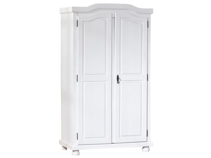 armoire pin massif blanc armoire en pin massif blanc colonial dim x x cm with armoire pin. Black Bedroom Furniture Sets. Home Design Ideas
