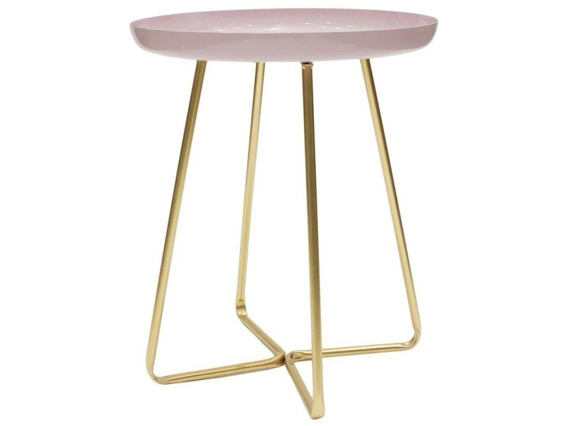 Table d'appoint plateau rond glossy