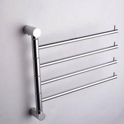 Porte-serviettes contemporain à 4 barres en aluminium