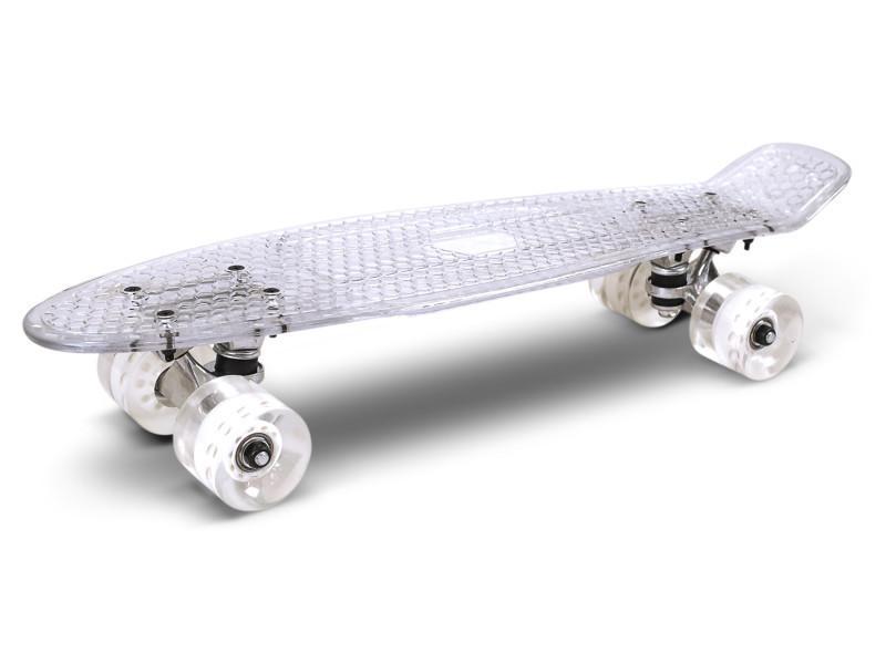 Skateboard transparent skatus t / blanc t Skateboard Transparent / Transparent Blanc