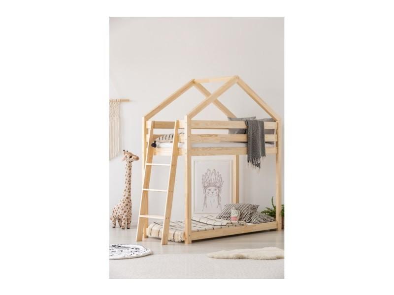 lit superpos gl cabane bois massif sommiers 70x140 vente de monlitcabane conforama. Black Bedroom Furniture Sets. Home Design Ideas