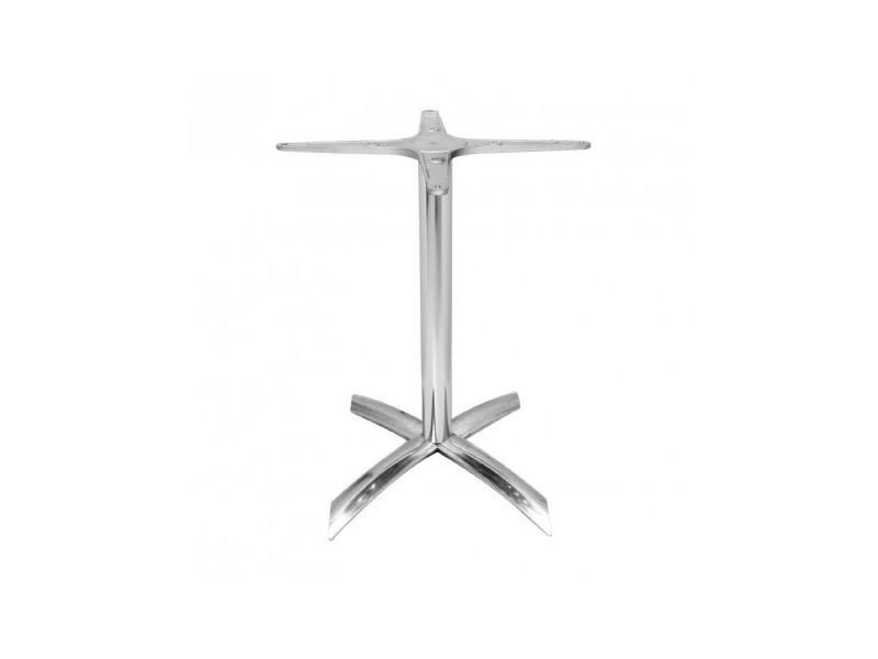 Pied de table à plateau carré de 600 mm basculant aluminium - bolero - aluminium618