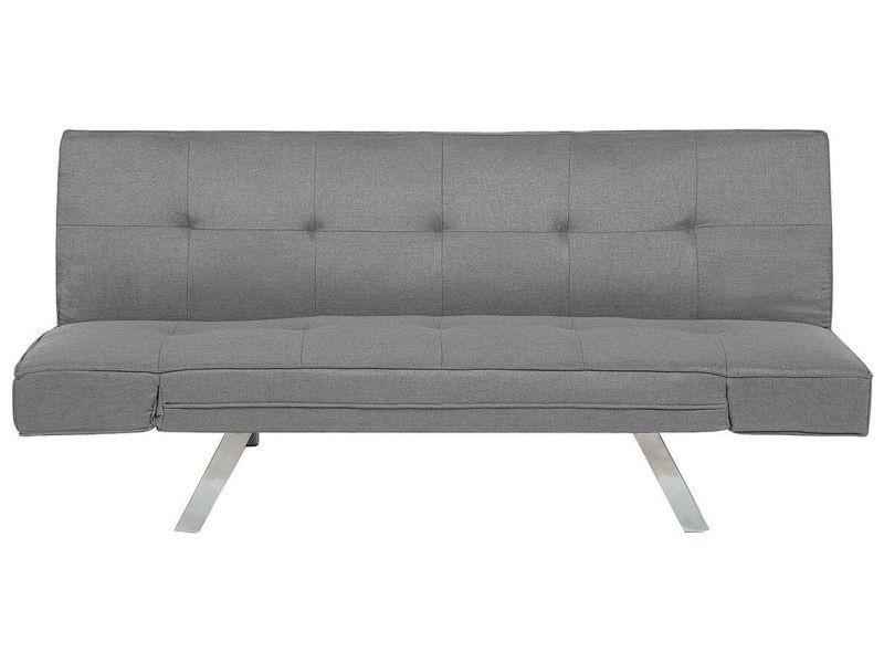 Canapé convertible en simili cuir gris clair bristol 155760