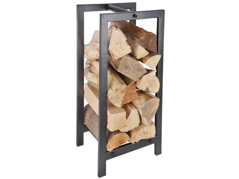 Range buche métallique rectangulaire, pour le stockage du bois 30 cm x 24 cm h 60 cm FF232