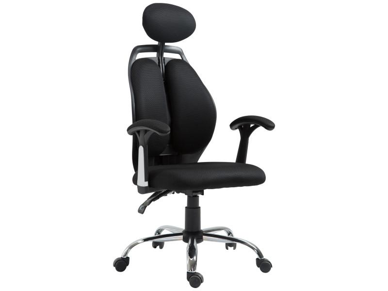 fauteuil de bureau ergonomique grand confort design contemporain appui t te amovible en coussin. Black Bedroom Furniture Sets. Home Design Ideas
